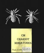 Chariot Miniatures 15mm Fantasy GOB9 Giant Spiders (x 2 models)